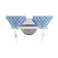 Schonbek Geometrix Vertex 2 Light Wall Sconce in Polished Silver and Strass Crystal VRW1208SS photo thumbnail