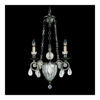 Schonbek Vendome 4 Light Chandelier in Antique Pewter and Clear Rock Crystal Trim 5792-47