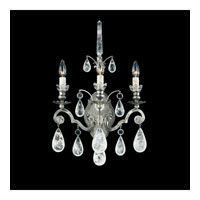 Schonbek Versailles Rock Crystal 3 Light Wall Sconce in Antique Pewter and Clear Rock Trim 2462-47