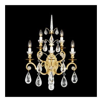 Schonbek Versailles Rock Crystal 5 Light Wall Sconce in Heirloom Gold and Clear Rock Trim 2463-22