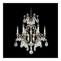 Schonbek Versailles Rock Crystal 6 Light Chandelier in Etruscan Gold and Clear Rock Trim 2470-23