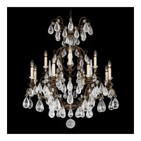 Schonbek Versailles Rock Crystal 12 Light Chandelier in Heirloom Bronze and Clear Rock Trim 2472-76
