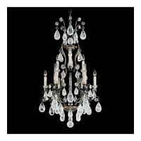 Schonbek Versailles Rock Crystal 9 Light Chandelier in Antique Pewter and Clear Rock Trim 2480-47
