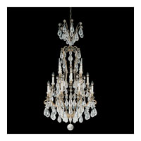 Schonbek Versailles Rock Crystal 16 Light Chandelier in Etruscan Gold and Clear Rock Trim 2482-23