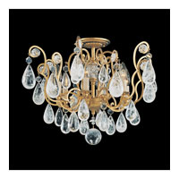 Schonbek Versailles Rock Crystal 6 Light Chandelier in Heirloom Gold and Clear Rock Trim 2484-22