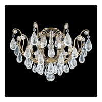 Schonbek Versailles Rock Crystal 8 Light Chandelier in Etruscan Gold and Clear Rock Trim 2485-23