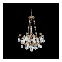 Schonbek Versailles Rock Crystal 6 Light Chandelier in Etruscan Gold and Clear Rock Trim 2486-23
