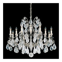 Schonbek Versailles Rock Crystal 12 Light Chandelier in Antique Pewter and Clear Rock Trim 2490-47