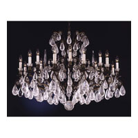Schonbek Versailles Rock Crystal 18 Light Chandelier in Bronze Umber and Clear Rock Trim 2492-75