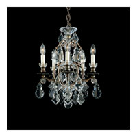 Schonbek Versailles 5 Light Chandelier in Heirloom Bronze and Clear Heritage Handcut Trim 2769-76