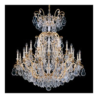Schonbek Versailles 25 Light Chandelier in Heirloom Gold and Clear Heritage Handcut Trim 2774-22