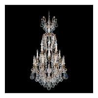 Schonbek Versailles 17 Light Chandelier in Etruscan Gold and Clear Heritage Handcut Trim 2782-23
