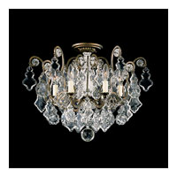 Schonbek Versailles 6 Light Chandelier in Heirloom Bronze and Clear Heritage Handcut Trim 2784-76