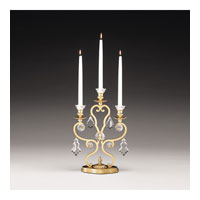 Schonbek Versailles 3 Light Candelabra in Heirloom Gold and Clear Heritage Handcut Trim 71203-22