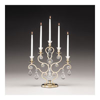 Schonbek Versailles 5 Light Candelabra in Heirloom Gold and Clear Heritage Handcut Trim 71205-22