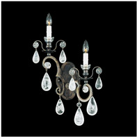 Versailles Rock Crystal 2 Light 5 inch Heirloom Bronze Wall Sconce Wall Light