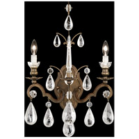 Versailles Rock Crystal 2 Light 8 inch Etruscan Gold Wall Sconce Wall Light