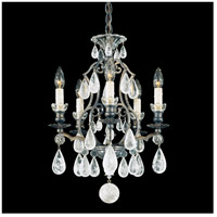Versailles Rock Crystal 5 Light 15 inch Heirloom Bronze Chandelier Ceiling Light