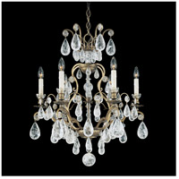 Schonbek 2470-22 Versailles Rock Crystal 6 Light 22 inch Heirloom Gold Chandelier Ceiling Light