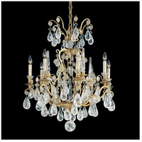 Versailles Rock Crystal 8 Light 27 inch Heirloom Gold Chandelier Ceiling Light