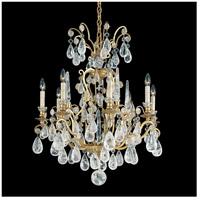 Schonbek 2471-22 Versailles Rock Crystal 8 Light 27 inch Heirloom Gold Chandelier Ceiling Light