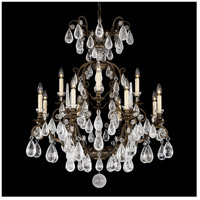Schonbek 2472-48 Versailles Rock Crystal 12 Light 33 inch Antique Silver Chandelier Ceiling Light