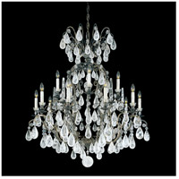 Schonbek 2473-76 Versailles Rock Crystal 15 Light 39 inch Heirloom Bronze Chandelier Ceiling Light