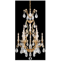 Versailles Rock Crystal 9 Light 21 inch Heirloom Gold Chandelier Ceiling Light