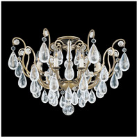 Versailles Rock Crystal 8 Light 27 inch Etruscan Gold Flush Mount Ceiling Light