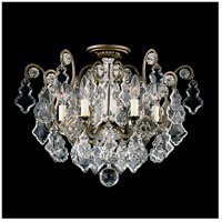 Schonbek 2784-22 Versailles 6 Light 20 inch Heirloom Gold Flush Mount Ceiling Light