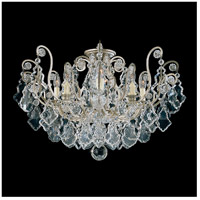 Schonbek 2785-48 Versailles 8 Light 26 inch Antique Silver Flush Mount Ceiling Light