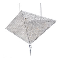 Schonbek Vertex 9 Light Pendant in Stainless Steel and Azurite Swarovski Elements Trim VM2318AZU