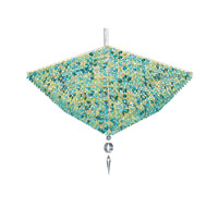Schonbek Vertex 10 Light Pendant in Stainless Steel and Jungle Swarovski Elements Trim VP2413JUN