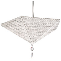 Vertex 10 Light 24 inch Stainless Steel Pendant Ceiling Light in Clear Spectra, Geometrix,Canopy Sold Separately