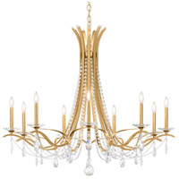Schonbek VA8339N-22S Vesca 9 Light 45 inch Heirloom Gold Chandelier Ceiling Light in Clear Swarovski