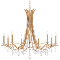 Schonbek VA8339N-26H Vesca 9 Light French Gold Chandelier Ceiling Light in Vesca Heritage