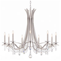Schonbek VA8339N-59S Vesca 9 Light 45 inch Ferro Black Chandelier Ceiling Light in Clear Swarovski