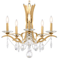 Schonbek VA8355N-22H Vesca 5 Light 23 inch Heirloom Gold Chandelier Ceiling Light in Clear Heritage