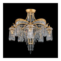 Schonbek Victorian 5 Light Semi Flush Mount in Heirloom Gold and Clear Heritage Handcut Trim 5745-22