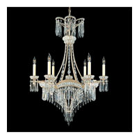 Schonbek Victorian 6 Light Chandelier in Heirloom Silver and Clear Heritage Handcut Trim 5755-44