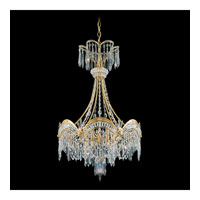 Schonbek Victorian 7 Light Chandelier in Heirloom Gold and Clear Heritage Handcut Trim 5756-22