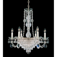 Schonbek Windsor 7 Light Chandelier in Antique Silver and Clear Legacy Collection Trim 1353-48 photo thumbnail