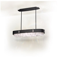 Zeppa 10 Light 15 inch Ferro Black Pendant Ceiling Light in Swarovski