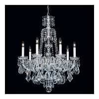 Schonbek Hamilton 7 Light Chandelier in Silver and Clear Heritage Handcut Trim 5736CL