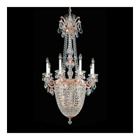 Schonbek La Scala Empire 11 Light Pendant in Tourmaline and Handcut Crystal 5090-82