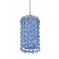Schonbek Matrix 1 Light Pendant in Stainless Steel and Crystal Swarovski Elements Trim MC0305S