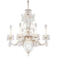 Schonbek 1246-48A Bagatelle 7 Light 21 inch Antique Silver Chandelier Ceiling Light in Bagatelle Spectra