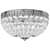 Schonbek 1560-40A Petit Crystal 4 Light 10 inch Silver Flush Mount Ceiling Light in Spectra, Polished Silver