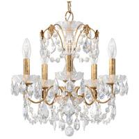 Schonbek 1704-26 Century 5 Light 17 inch French Gold Chandelier Ceiling Light