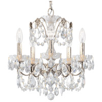 Schonbek 1704-48 Century 5 Light 17 inch Antique Silver Chandelier Ceiling Light